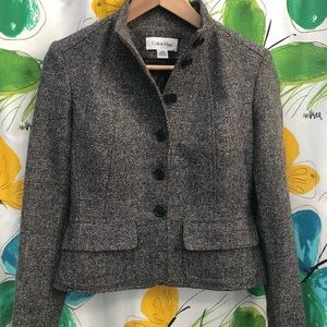 Calvin Klein Tweed Cropped Blazer/Jacket